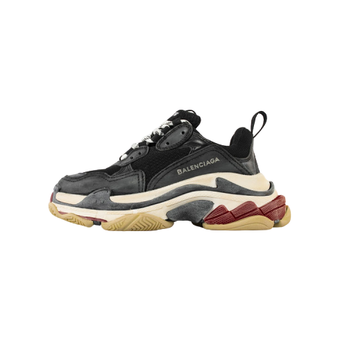 BALENCIAGA TRIPLE S TRAINER BLACK RED