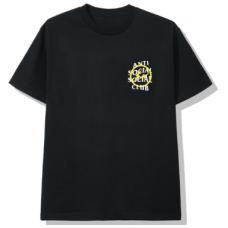 ASSC X Fragment Black Tee Yellow logo