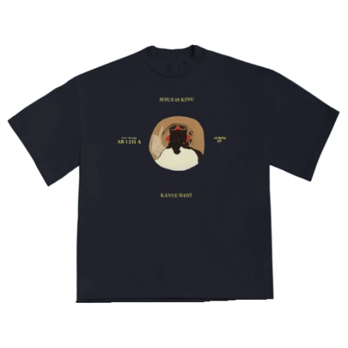 Jesus Is King Kanye West Black Tee