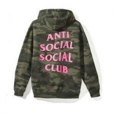 Anti Social Social Club Break Me Camo Hoodie Green/Pink