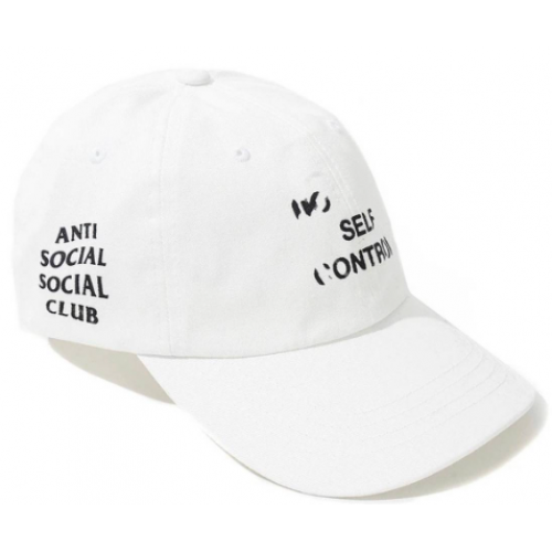 "Anti Social Social Club ""No Self Control"" White Cap"