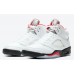 Air Jordan 5 Fire Red 2020 Silver Tongue