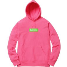 Supreme Box Logo Hoodie Pink FW17