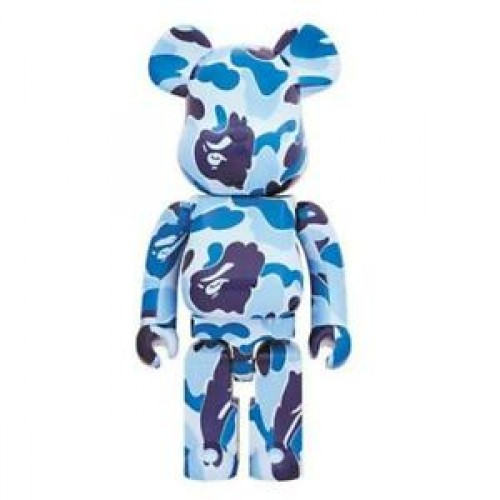 A BATHING APE ABC CAMO BE@RBRICK 1000% Blue
