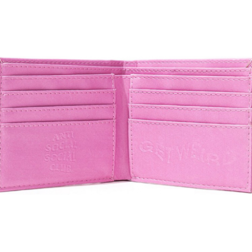 Anti Social Social Club Wallet Pink