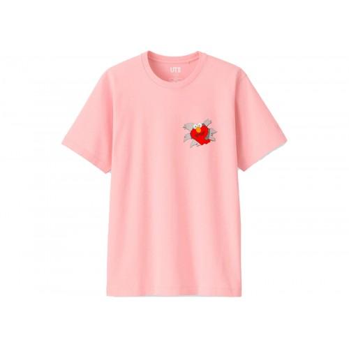 Kaws x Uniqlo x SS Elmo Pink Tee