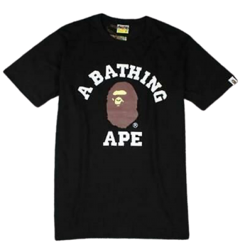 BAPE Brown Ape head Black Tee