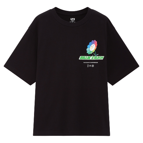 Billie Eilish x Murakami Logo Black Tee