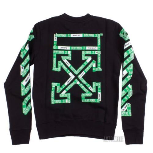Off-White Virgil Abloh Ssense Exclusive Black 3d Diag Sweatshirt