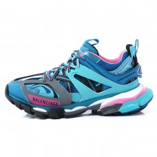 BALENCIAGA sneakers blue Lady's low-frequency