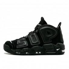 Supreme x Nike Air More Uptempo Black/Black-White