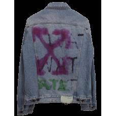 OffWhite Spray Arrows Denim Jacket