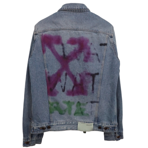 OffWhite Spray Arrows Denim Jacket