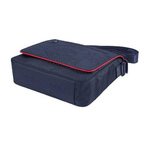 Supreme Lacoste Messenger Bag Navy Red