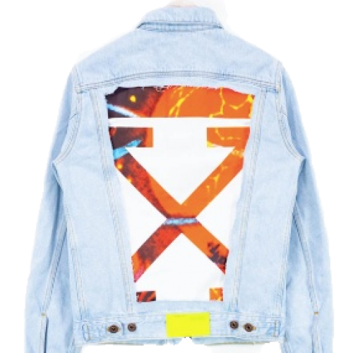 OFF-WHITE Slim Denim Jacket