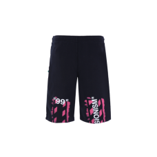 Diag print jersey shorts OFF WHITE