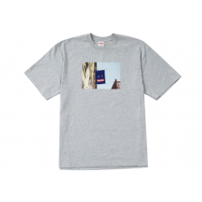 Supreme Grey Banner T-Shirt