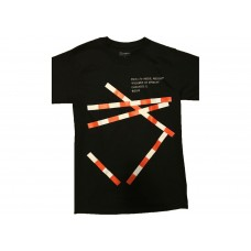 Virgil Abloh x MCA Figures of Speech Tape Tee Black