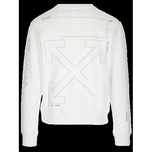 Offwhite Unfinished Sweatshirt SweatShirt