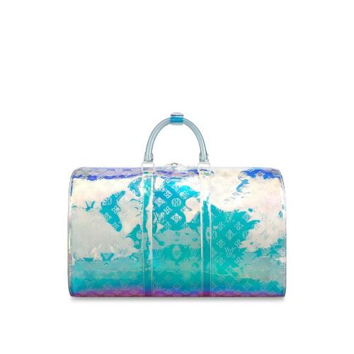 LV and Virgil Prism Keep All Bag
