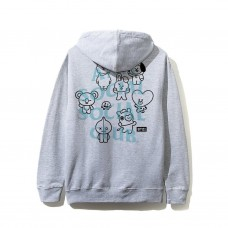 Anti Social Social Club X BT21 Grey Hoodie