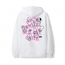 Anti Social Social Club X BT21 Traceable White Hoodie
