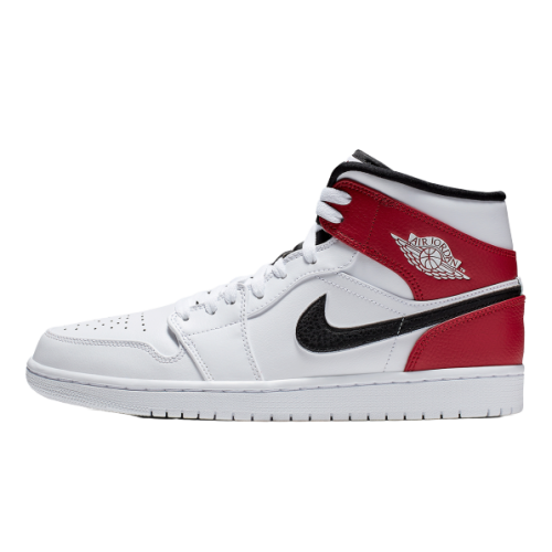 Air Jordan 1 Mid Red White Black