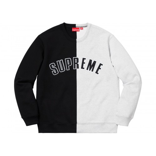 Supreme Split Crewneck Sweatshirt Black