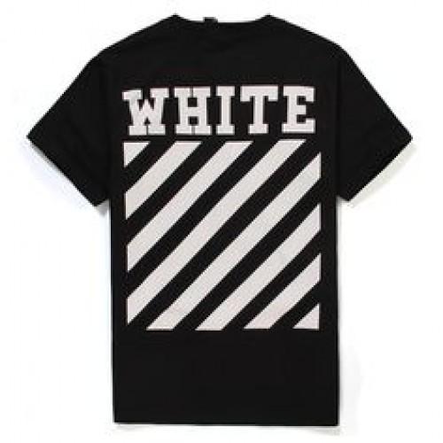 Off white classic white box black tshirt