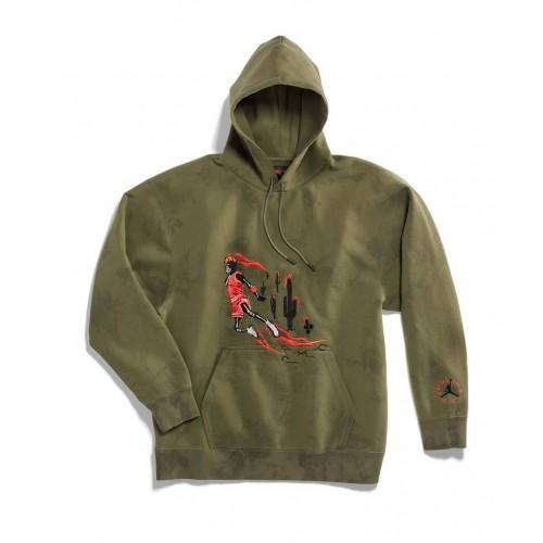 Cactus Jack TS Suede Hoodie Green Army