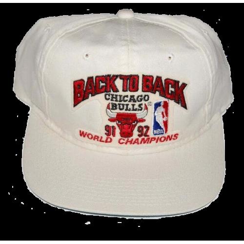 Back to Back 91,92 Chicago Bulls Champions Vintage Hat