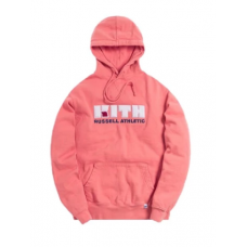 Russell x Kith Varsity Logo Pink Hoodie