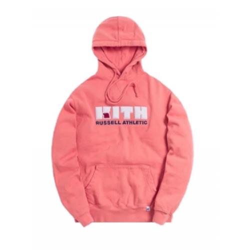 Russell x Kith Varsity Logo Pink Hoodie