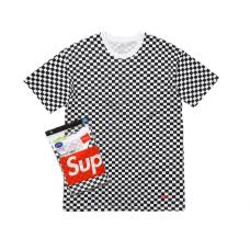 Supreme Hanes Tagless T-Shirt Checkered
