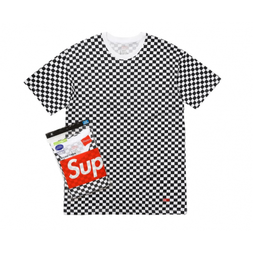 Supreme Hanes Tagless T-Shirt Checkered