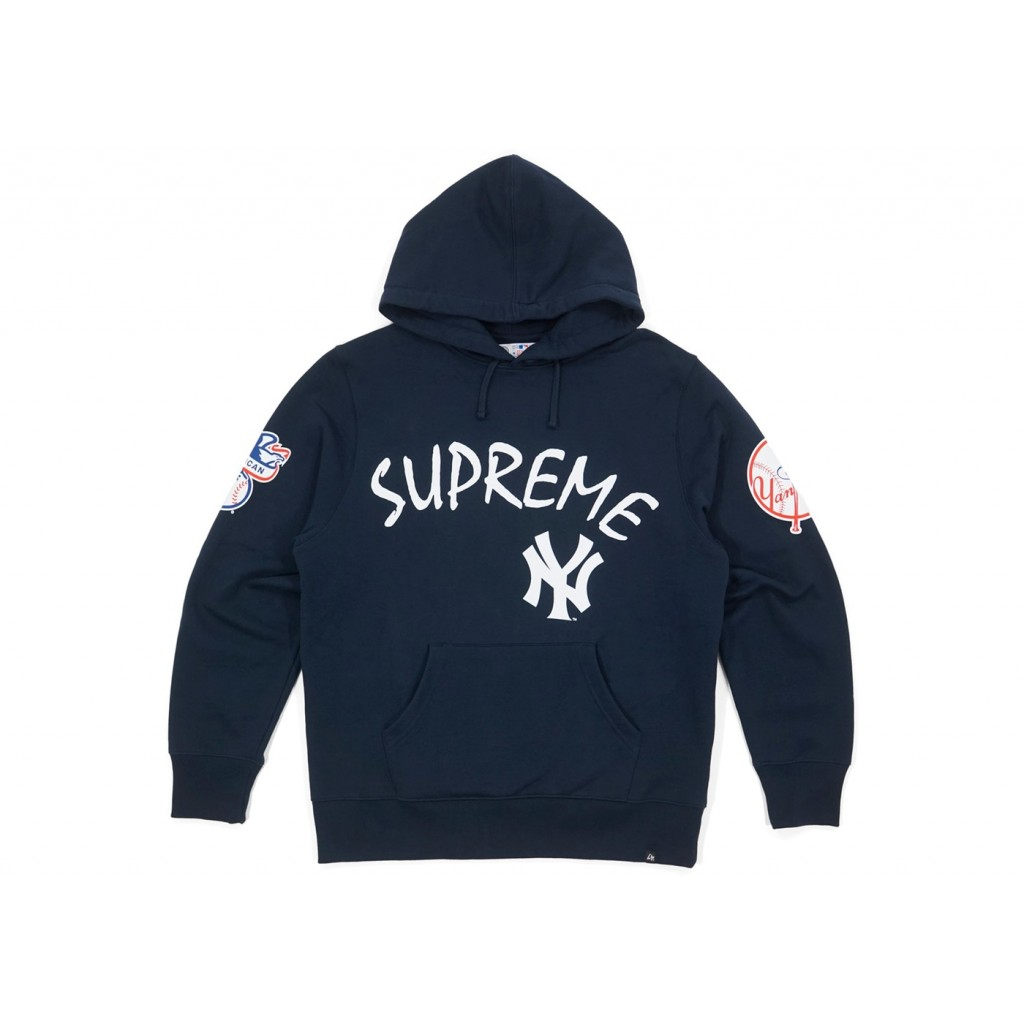 reputable site 34214 b3deb Supreme X New York Yankees Hoodie by Youbetterfly