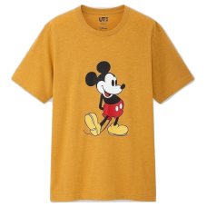 Uniqlo X Disney Mickey Stands Tee Yellow