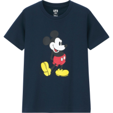 Uniqlo X Disney Mickey Stands Tee Blue
