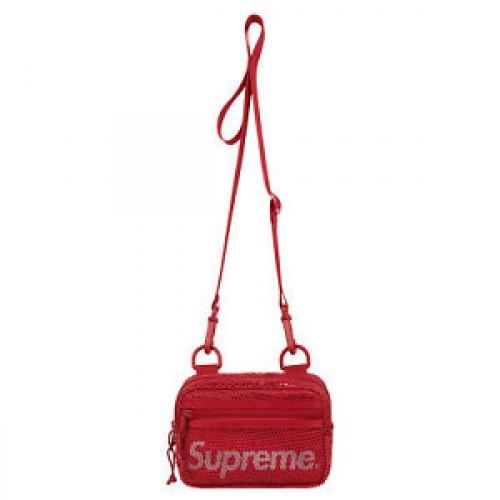 Supreme Mesh Side Bag Red SS20