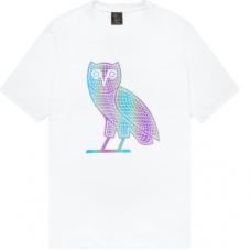 OVO Iridescent Grid Owl T-Shirt White
