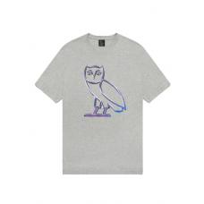 OVO Liquid Metal Owl Tee Grey