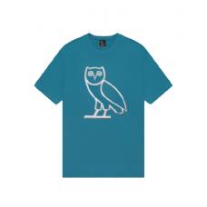 OVO Liquid Metal Owl Tee Blue