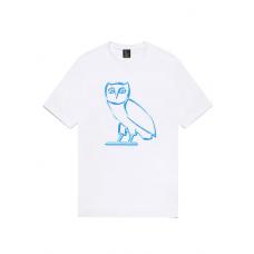 OVO Liquid Metal Owl Tee White