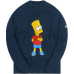 Kith x The Simpsons Bart Intarsia Sweater Navy