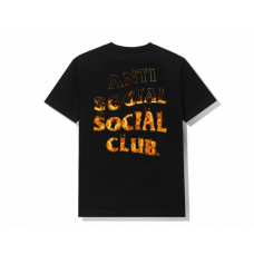 Anti Social Social Club A Fire Inside Tee Black