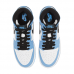 Jordan 1 Retro High White University Blue Black (GS)