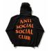 ASSC X Undefeated Paranoid Black & Orange Hoodie