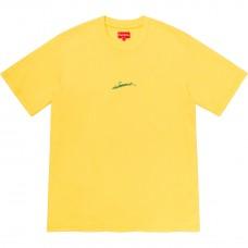 Supreme Signature S/S Top Yellow