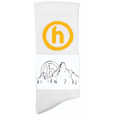 Hidden NY Crew Socks White/Yellow