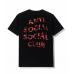 Anti Social Social Club Red Camo Wild Life Black Tee